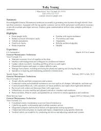 Maintenance Resume Example – Kappalab