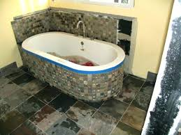 installing bathtub on concrete slab how