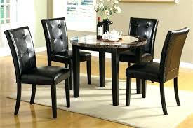 round black glass dining table and chairs small