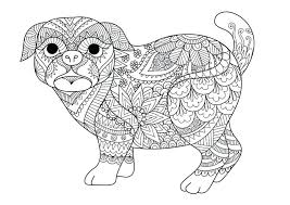 Pug Coloring Printable Dog Coloring Pages Pug Colouring Page Cute