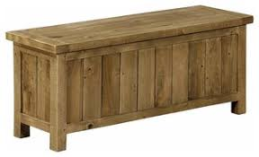 Rustic <b>Storage Bench</b>, <b>Solid Reclaimed</b> Pine Wood, Perfect for ...