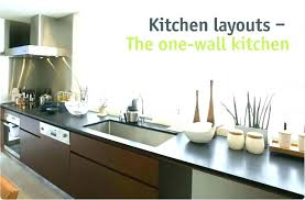 one wall kitchen with island one wall kitchen floor plans one wall kitchen designs with an