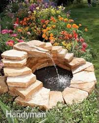 diy water fountains with small pond