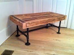 steel pipe desks wood steel coffee table reclaimed with pipe legs love the