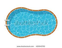 swimming pool vector. Swimming Pool Top View Set Isolated On White Background. Blue Water Leisure Relaxation Holiday Vector G