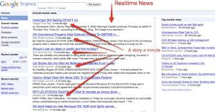 Google Finance Adds Realtime News Streams TechCrunch Awesome Google Finance Stock Quotes
