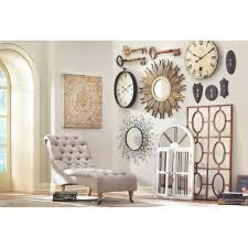 Home Decorators Collection Amaryllis Metal Wall Decor in Distressed Cream