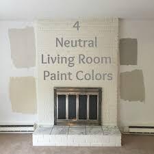 Wallpaper And Paint Living Room Drew Danielle Design 4 Neutral Living Room Paint Colors