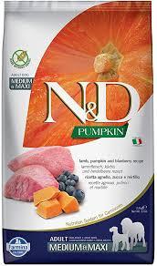 Farmina N&D Dog Dry Grain Free Pumpkin Medium ... - Amazon.com