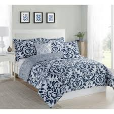 studio 17 anson damask navy white 5 piece full queen comforter set ymz006299 the home depot