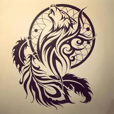Aztec Dream Catcher Tattoo Tribal Wolf Dream Catcher Tattoo Drawing 82