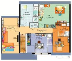 Plan De Maison à étage Moderne