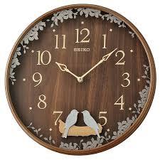 seiko bird pendulum wall clock with