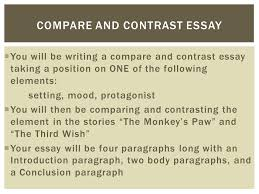 Good Introductory Paragraph Compare Contrast Essay