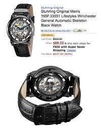 stuhrling original men s 165f 33551 winchester skeleton watch gets the stuhrling original men s winchester skeleton watch is not only stylish but it s currently on for just 88 shipped normally 525
