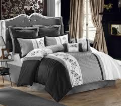 black grey comforter set queen