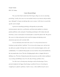 best photos of example of a career paper career research paper career research paper essay example