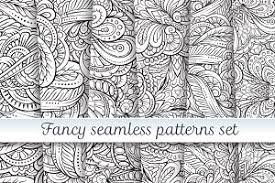Fancy Patterns Cool Black And White Fancy Patterns Set Graphic Patterns Creative Market