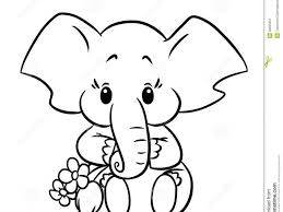 Small Picture Baby Elephant Coloring Page Coloring Page for Kids
