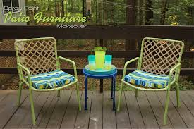 spray paint patio furniture makeover