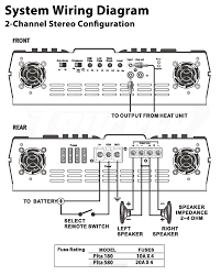 mono 2 channel amp wiring diagram wiring info \u2022 6 Channel Amp Wiring Diagram at Crunch Amp Wiring Diagram