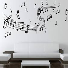 Microphone Mic Music Musical Notes Art Words Wall Sticker Home Decor