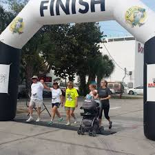 awa insurance finishing together at the fort myers beach shrimp run