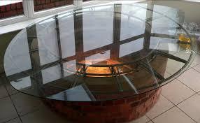 glass table cover inside bear decor 12