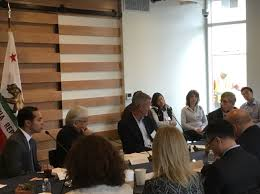 sunnyvale mayor glenn hendricks discusses with congressman mike honda and hud secretary julian castro the difficulty