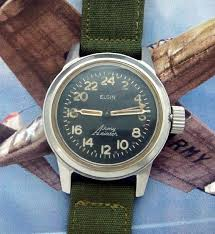 17 best images about watches the internet edc and men s 1952 elgin aviator 24 hour wrist watch strickland vintage watches