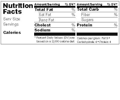 Nutrition Labels Template Available Labels Make Your Own Nutrition Facts Labels With