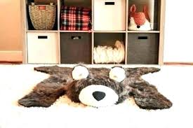 bear rug plush animal