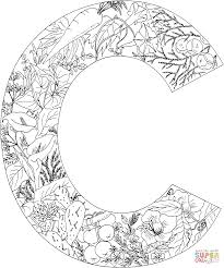 Coloring is a fun way for kids to be creative and learn how to draw and use the colors. Letter C With Plants Coloring Page Free Printable Coloring Pages Alphabet Coloring Pages Coloring Letters Letter C Coloring Pages