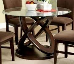 dining room table wood. modern style cross-oval dining table base w/ glass top in room wood r