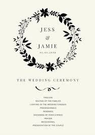 program template for wedding customize 66 wedding program templates online canva