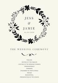 Wedding Ceremony Program Cover Customize 66 Wedding Program Templates Online Canva