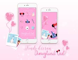 Disneyland Girl Kit Mickey Minnie Picto Disney Fond Ecrans Iphone