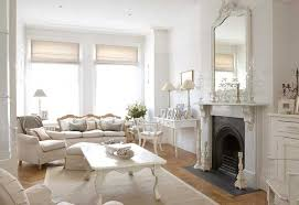 french living room. chabby chic white country living room french n