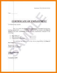 Employee Certificate Format Employment Verification Letter For Visa