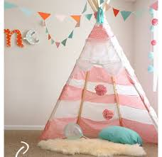 bedroom wall designs for girls. DIY No Sew Teepee | Girls Bedroom Decor Ideas Click For Tutorial Bedroom Wall Designs Girls T
