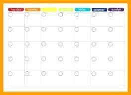 Online Planning Calendar Printable Weekly Meal Planner Chart Plan Calendar Blank Prep