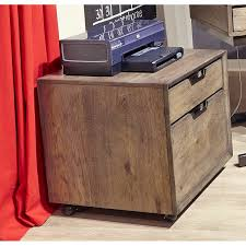 fossil brown 2 drawer rolling file cabinet harper point