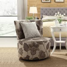 Oxford Creek Transitional Blake Grey Floral Swivel Accent Chair - Home -  Furniture - Living Room Furniture - Living Room Chairs