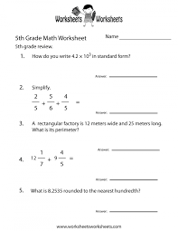 Math Worksheets 5th Grade Free Library Download And For Fifth Word ...