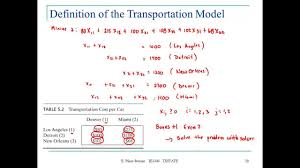 lecture part the transportation and assignment problems lecture 9 part 1 the transportation and assignment problems