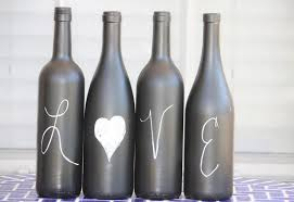 How To Use Wine Bottles For Decoration chalk wine bottles Design Decoration 47