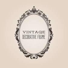 oval frame design. Oval Vintage Ornate Border Frame With Retro Pattern, Victorian And Baroque  Style Decorative Design. Oval Design