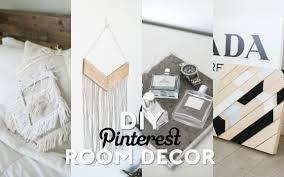 diy pinterest inspired room decor minimal easy youtube