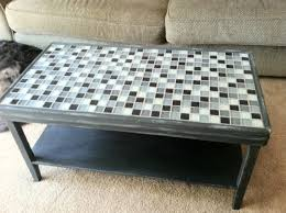 Coffee Table With Tile Top.