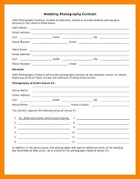 Simple Wedding Photography Contract Template Simple Wedding